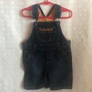 Timberland denim jean overall shorts